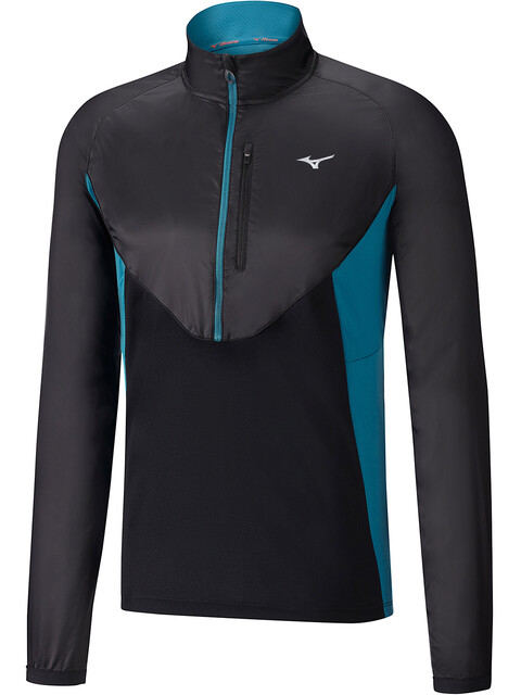 Mizuno Static BT Half-Zip Windtop Men black/black